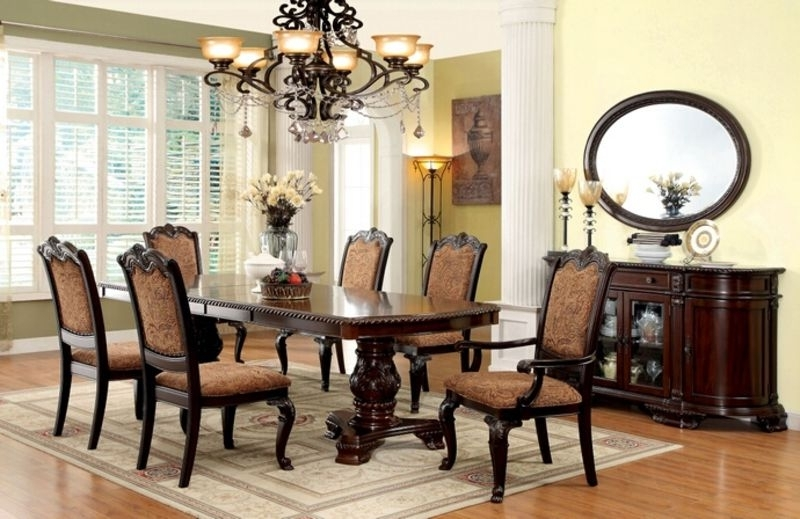Cm3319T Bellagio Formal Dining Room Set With With Regard To Most Recently Released Bellagio Dining Tables (View 11 of 20)