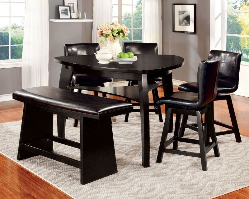Cm3433Pt Hurley Counter Height Dining Room Inside Noah Dining Tables (View 3 of 20)