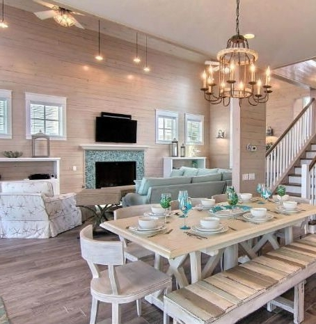 Coastal Dining Tables Throughout Best And Newest Coastal Dining Room Ideas – Www (View 9 of 20)