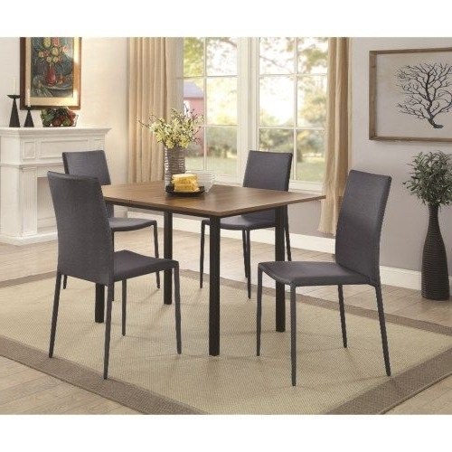 Coaster Adler Stackable Gray/black Dining Chair – Coaster Fine Regarding Well Liked Chapleau Ii 7 Piece Extension Dining Tables With Side Chairs (View 6 of 20)