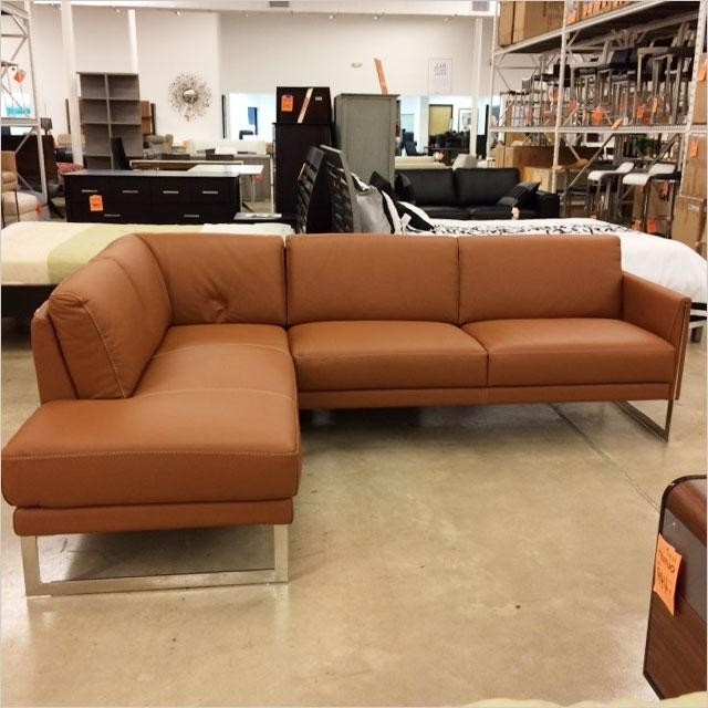 Cognac Leather Sectional Tenny 2 Piece Left Facing Chaise W Headrest Inside Current Tenny Cognac 2 Piece Left Facing Chaise Sectionals With 2 Headrest (View 3 of 15)