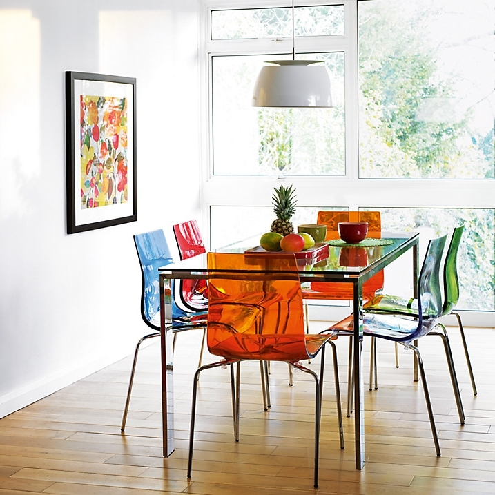 Colourful Contemporary Dining: Frost Dining Table And Gel, Colorful With Most Recent Colourful Dining Tables And Chairs (View 4 of 20)