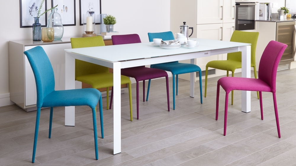 Colourful Dining Tables And Chairs Intended For Best And Newest Colored Dining Room Chairs – Domainmichael (View 5 of 20)