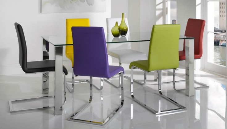 Colourful Dining Tables And Chairs With Current  (View 7 of 20)