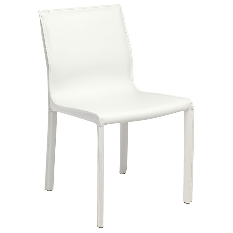 Featured Photo of White Leather Dining Chairs