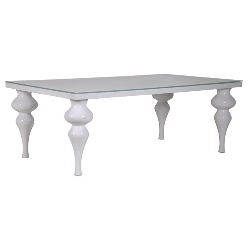 Column Leg White High Gloss Dining Table Intended For Trendy Oval White High Gloss Dining Tables (View 4 of 20)
