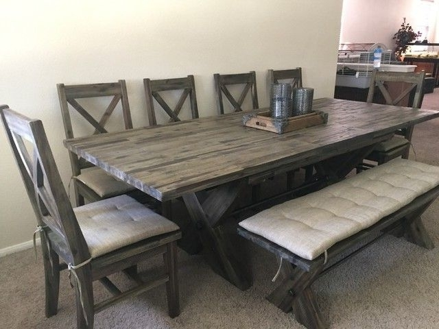 Combs 48 Inch Extension Dining Tables Pertaining To 2018 Mallard 6 Piece Extension Dining Set (View 5 of 20)