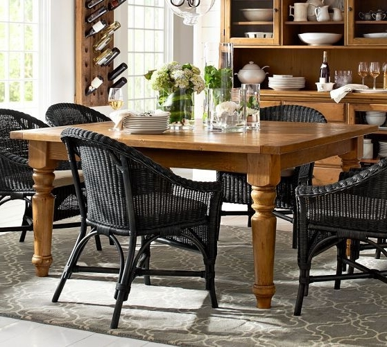 Combs 7 Piece Dining Sets With  Mindy Slipcovered Chairs With Famous Sumner Square Fixed Dining Table (View 7 of 20)