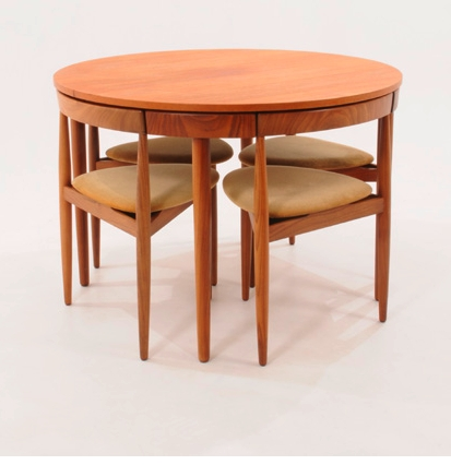Compact Dining Tables Regarding Latest Hans Olsen Compact Dining Table & Chairs (View 4 of 20)