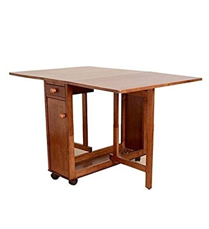 Compact Dining Tables Within Fashionable Hometown Compact Four Seater Dining Table (Walnut): Amazon (View 8 of 20)
