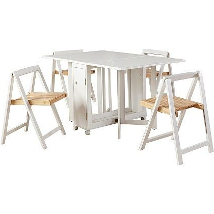 Featured Photo of Compact Folding Dining Tables And Chairs