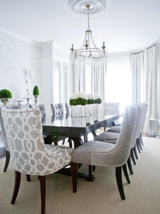Contemporary Dining Room Chairs With Regard To Fashionable Contemporary Dining Room — Love The Patterned Chairs For The Head (View 6 of 20)