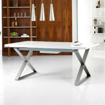 Contemporary Dining Room Furniture From Dwell Throughout Newest White Extendable Dining Tables (View 5 of 20)