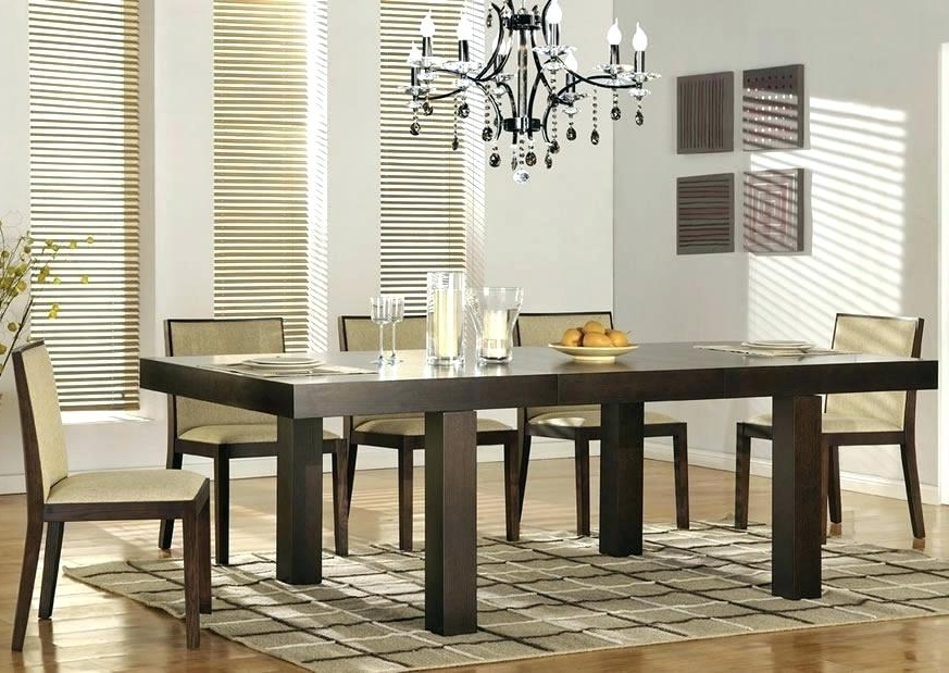 Contemporary Dining Room Tables And Chairs For Well Liked Contemporary Dining Room Sets New Arrival Italian Modern Glass (View 3 of 20)