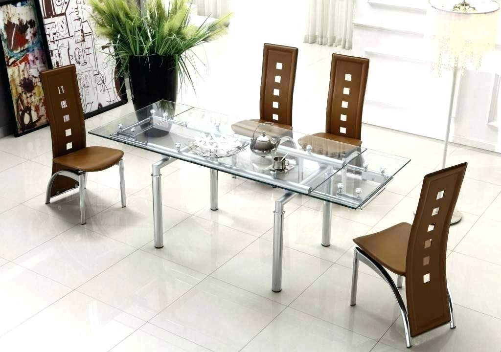 Contemporary Dining Sets In Most Recently Released Round Glass Dining Table Set Modern – Modern Computer Desk (View 4 of 20)