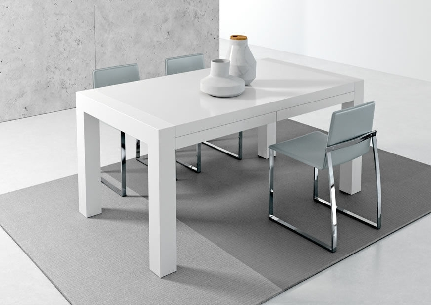 Contemporary Dining Table / Metal / Stained Wood / Melamine – Vuelta Throughout Most Recently Released White Melamine Dining Tables (View 2 of 20)