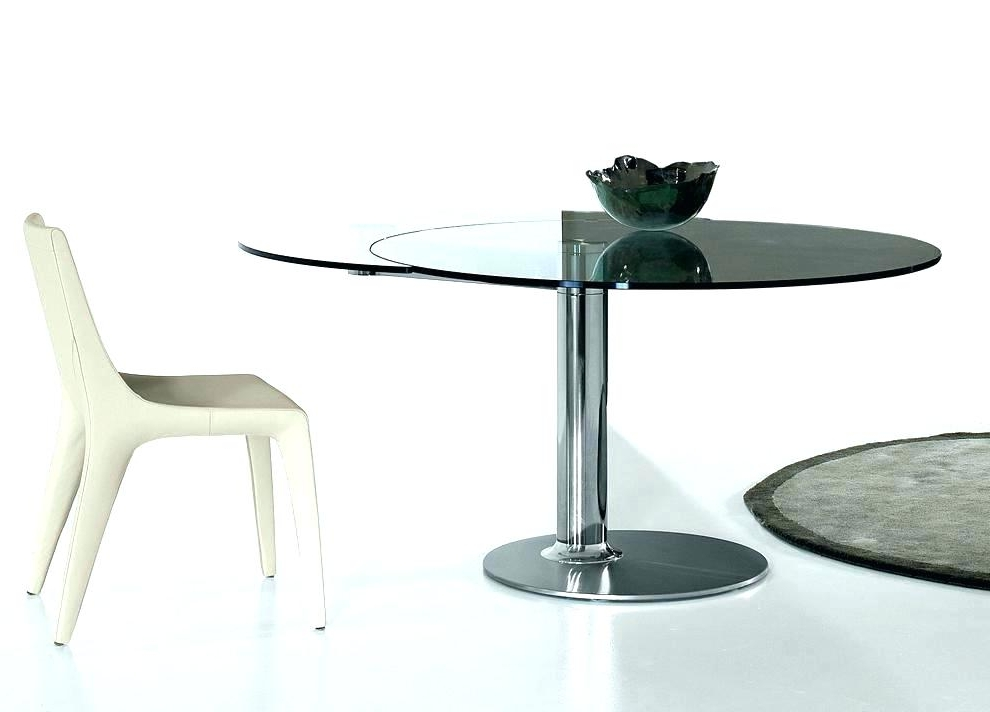Contemporary Extending Dining Table Contemporary Extending Glass Inside Current Extendable Glass Dining Tables (View 1 of 20)