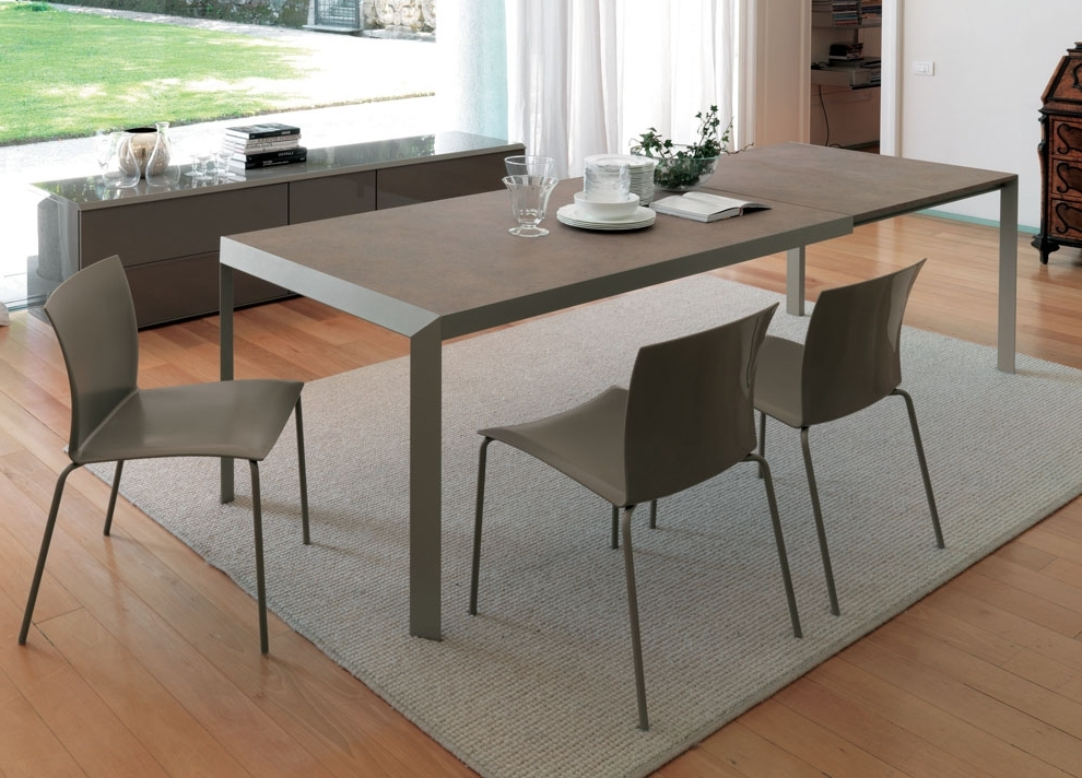 Contemporary Extending Dining Tables For Favorite White Melamine Dining Tables (View 3 of 20)