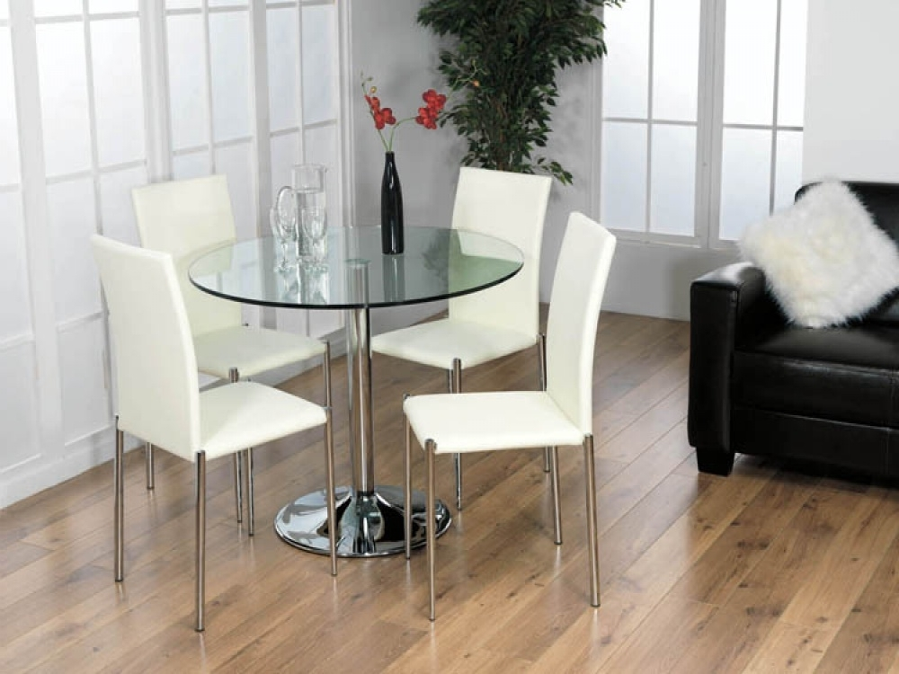 Contemporary Glass Kitchen Table Sets — Batchelor Resort Home Ideas Within Favorite Glass Dining Tables Sets (View 1 of 20)