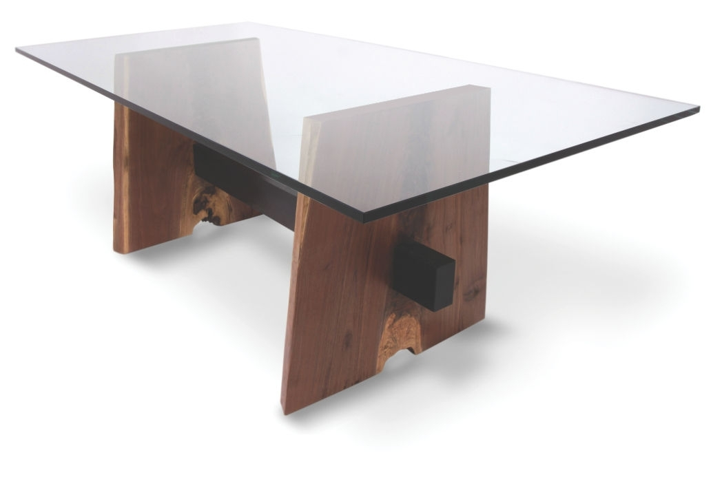 Contemporary Table / Wooden / Rectangular / In Reclaimed Material With Fashionable Contemporary Base Dining Tables (View 6 of 20)