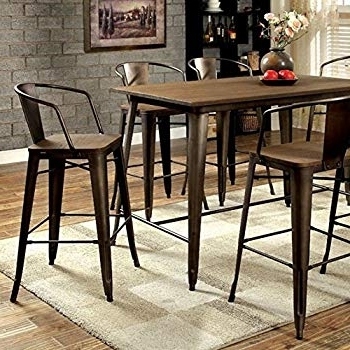 Cooper Dining Tables Regarding Well Known Amazon – Furniture Of America Cm3529Pt Cooper Ii Counter Height (View 4 of 20)
