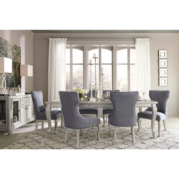 Cora 5 Piece Dining Sets In Well Known Shop Signature Designashley Coralayne Silver Dining Room Table (View 4 of 20)