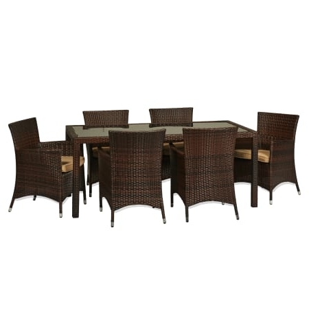 Cora 7 Piece Dining Sets Intended For Most Recently Released Delacora Sets Outdoor Furniture – Bs Bad (View 8 of 20)