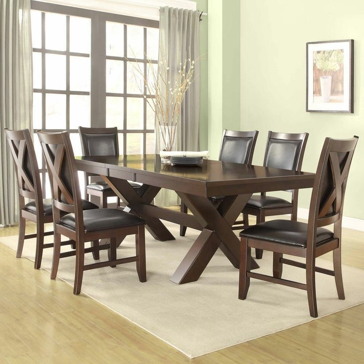 Coral Walnut 7 Piece Extending Table Dining Set – $1000 60 78 Inches In Newest Delfina 7 Piece Dining Sets (View 5 of 20)