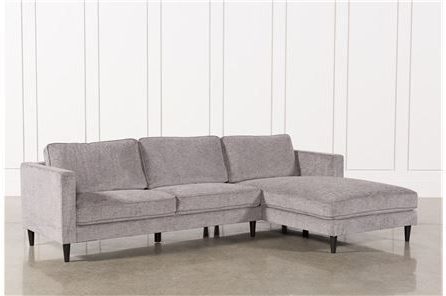 Cosmos Grey 2 Piece Sectional W/raf Chaise (View 4 of 15)