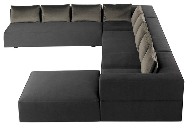 Cosmos Grey 2 Piece Sectionals With Raf Chaise With Widely Used Cosmo Modern U Shaped Sectional – Contemporary – Sectional Sofas (View 5 of 15)