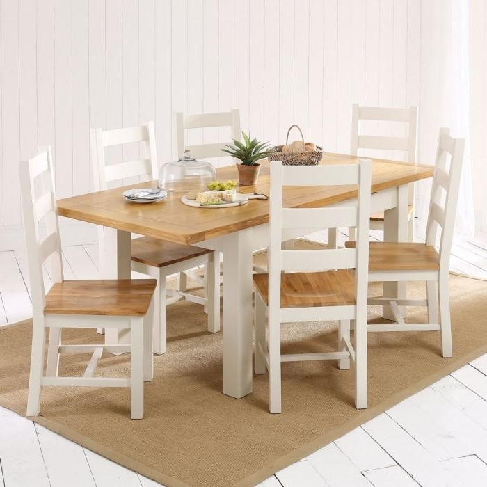 Cotswold Country Cream Painted Medium Dining Table + 6 Chair Set Pertaining To Favorite Cotswold Dining Tables (View 3 of 20)