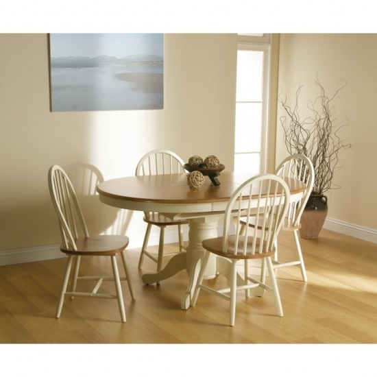 Cotswold Dining Tables With Widely Used Cotswold Extending Dining Table + 4 Windsor Chair Dining Set (View 7 of 20)