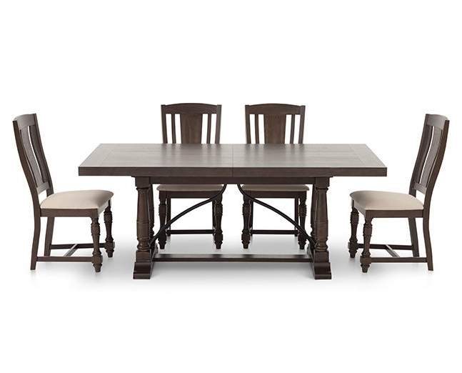 Craftsman 5 Piece Round Dining Sets With Side Chairs Regarding Latest Kitchen & Dining Furniture (View 11 of 20)
