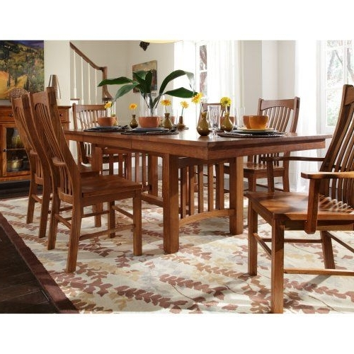 Craftsman 7 Piece Rectangle Extension Dining Sets With Arm & Side Chairs Inside Preferred A America Laurelhurst Rectangular Dining Table – Dining Tables At (View 3 of 20)