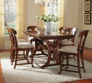 Craftsman 7 Piece Rectangle Extension Dining Sets With Arm & Side Chairs Throughout Well Liked A.r.t (View 6 of 20)