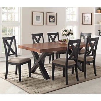 Featured Photo of Craftsman 7 Piece Rectangle Extension Dining Sets With Arm & Side Chairs
