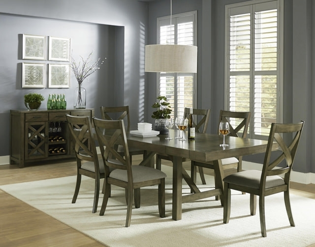 Craftsman 7 Piece Rectangle Extension Dining Sets With Side Chairs Pertaining To Preferred Dining Sets – Kitchen & Dining Room Sets – Hom Furniture (View 6 of 20)