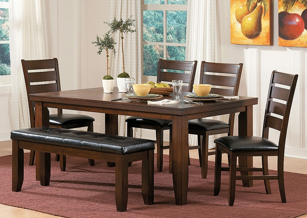Craftsman 7 Piece Rectangle Extension Dining Sets With Uph Side Chairs Pertaining To Best And Newest Homelife Furniture & Accessories Ameillia Rectangular Dining Table W (View 3 of 20)