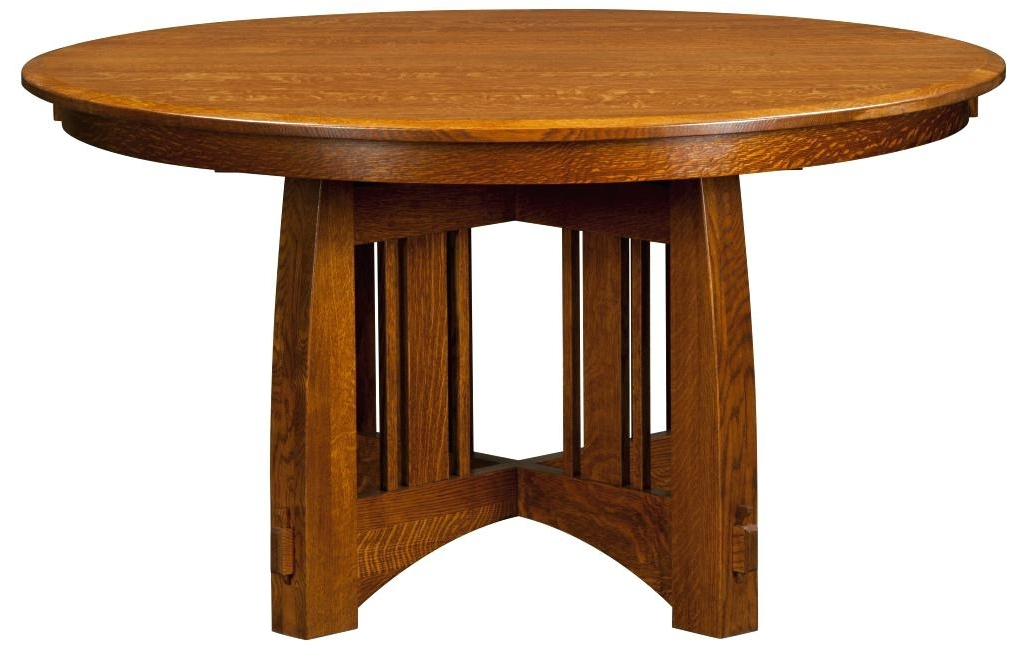 Craftsman Dining Table Optional Chairs Sears Round Glass – Chann With Well Known Craftsman Round Dining Tables (View 3 of 20)