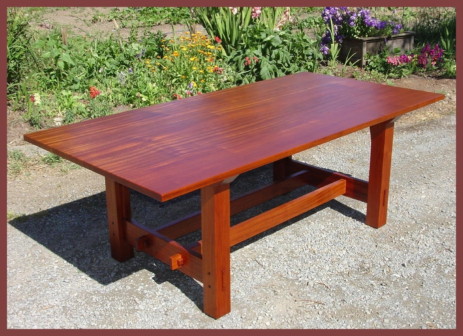 Craftsman Rectangle Extension Dining Tables With Regard To Well Known Voorhees Craftsman Mission Oak Furniture – Gustav Stickley Inspired (View 3 of 20)