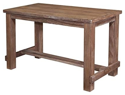 Craftsman Rectangle Extension Dining Tables Within Recent Amazon: Ashley Furniture Signature Design – Pinnadel Counter (View 4 of 20)