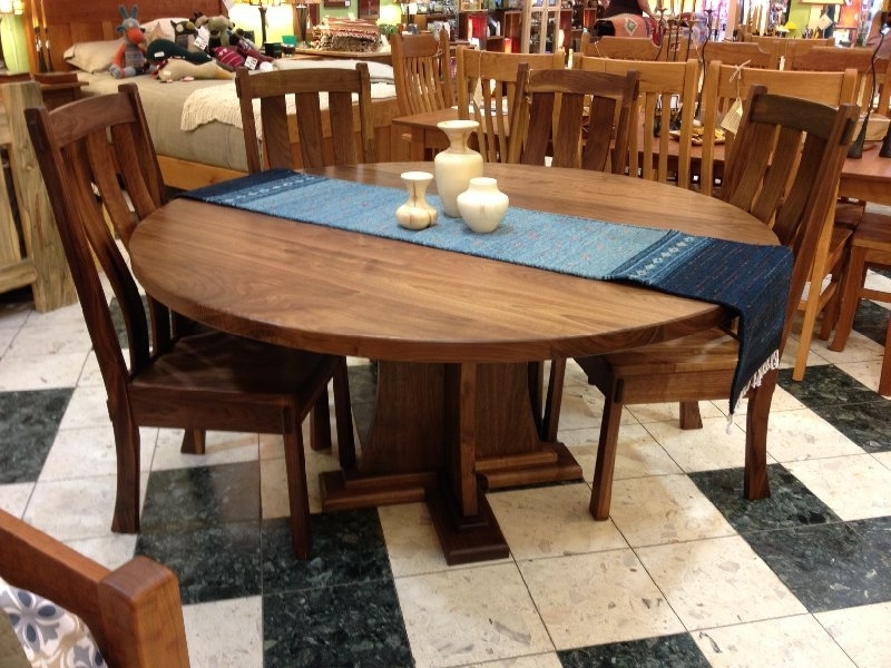 "Craftsman Round Dining Tables Inside Most Up To Date Solid Walnut ""craftsman"" Round Pedestal Table (View 7 of 20)"