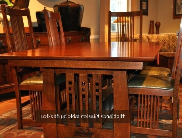 Craftsman Round Dining Tables Throughout Current Craftsman Dining Table Craftsman Style Dining Table 1 Sears Canada (View 9 of 20)