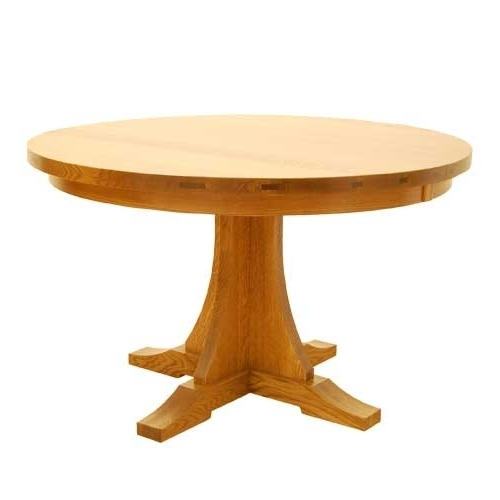 "Craftsman Round Table 48"" Within Well Liked Craftsman Round Dining Tables (View 11 of 20)"