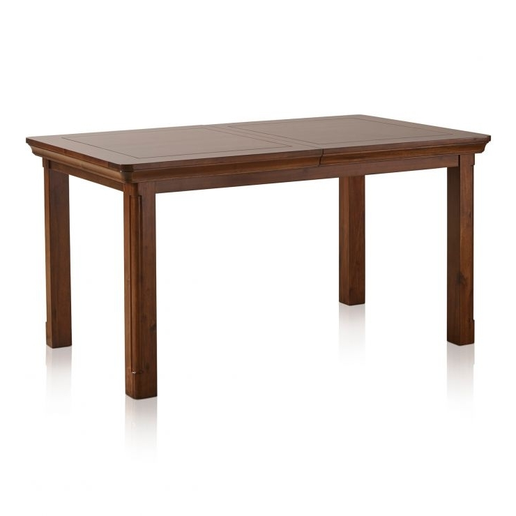 Cranbrook 5Ft Extendable Dining Table In Dark Solid Hardwood Within Popular 3Ft Dining Tables (View 8 of 20)