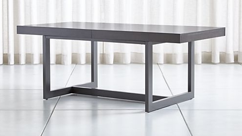 Crate And Barrel Pertaining To Shiny White Dining Tables (View 7 of 20)