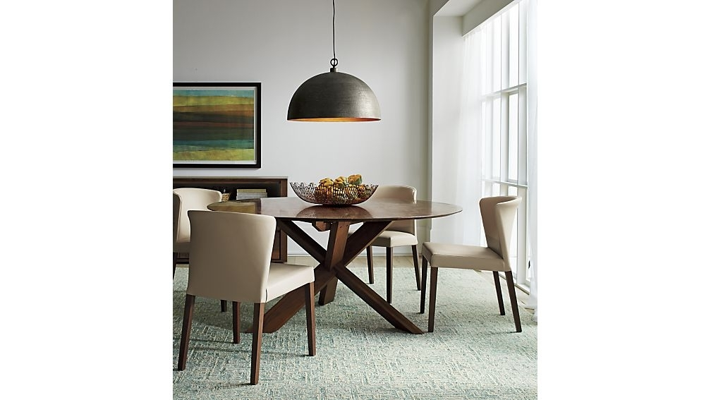 Crate And Barrel Within Trendy Dining Tables Lighting (View 1 of 20)