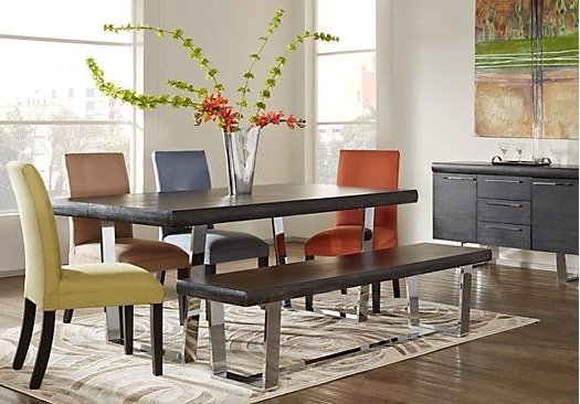 Crawford 6 Piece Rectangle Dining Sets For Favorite Cindy Crawford Home San Francisco Chalk 5 Pc Dining Room (View 6 of 20)