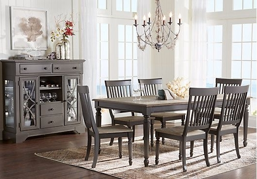 Crawford 6 Piece Rectangle Dining Sets For Well Known Dining Room Sets – Cindy Crawford – Cindy Crawford Home Ocean Grove (View 7 of 20)