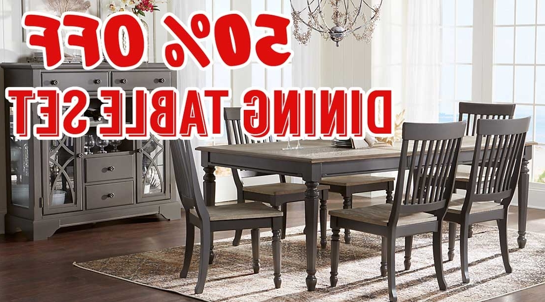 Crawford 6 Piece Rectangle Dining Sets Inside Well Known 50 Percent Off Cindy Crawford Home Ocean Grove Gray 5 Pc Dining Room (View 9 of 20)